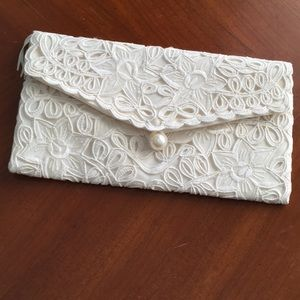 New Feminine Lace Fabric Wallet or Clutch